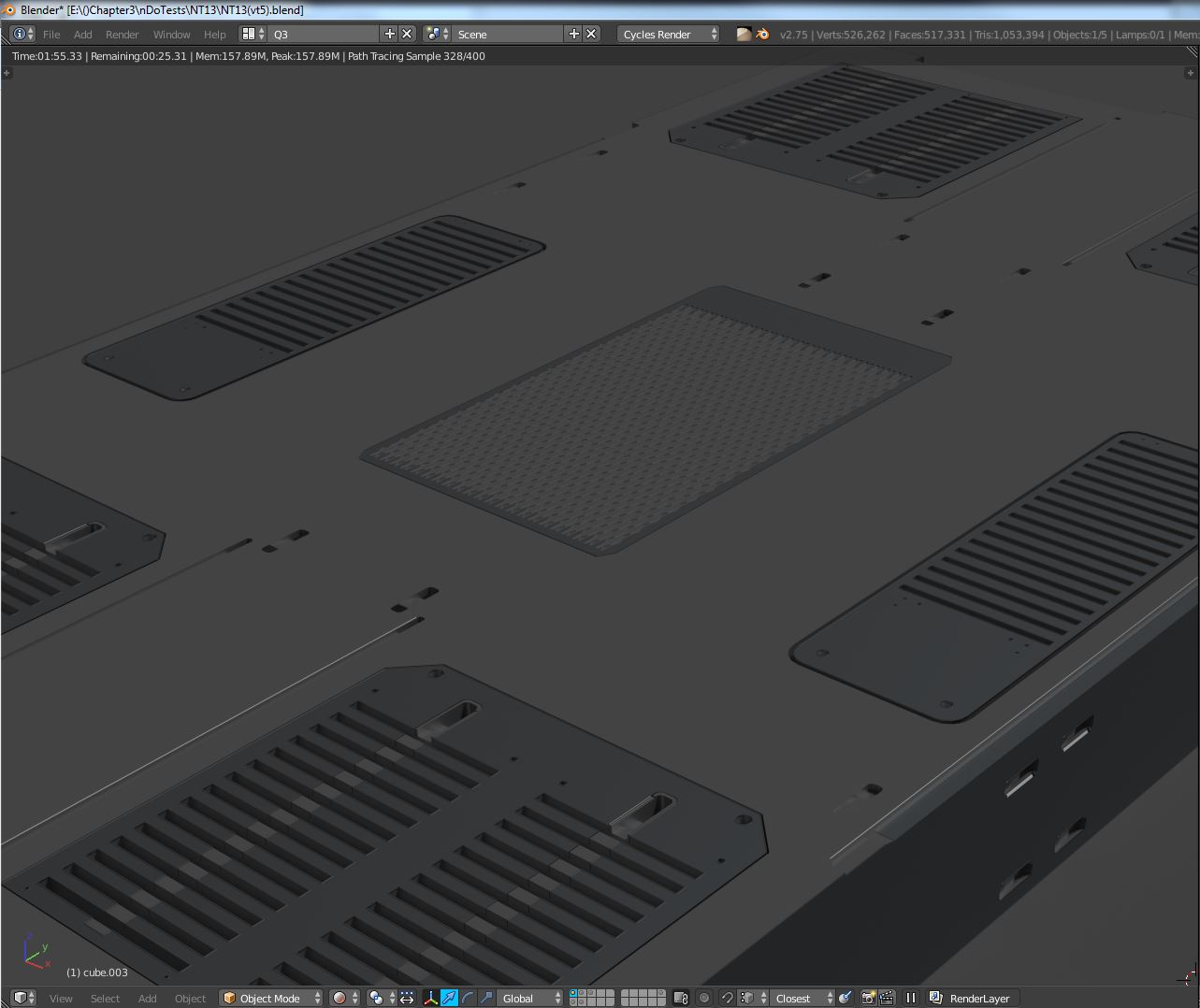 B3d: Subtractive Mesh Kit – P2: Concepting Sci-Fi Floors – From